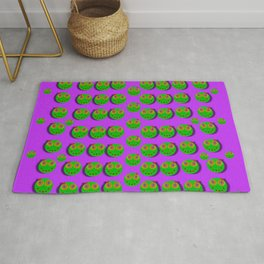 The happy eyes of freedom in polka dot cartoon pop art Rug