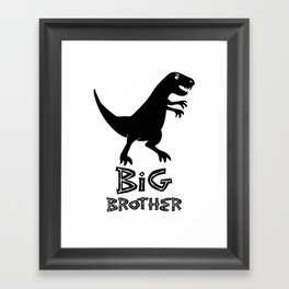 big brother dinosaur Framed Art Print