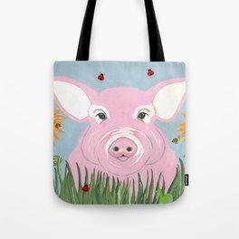 Pink Piggy Tote Bag