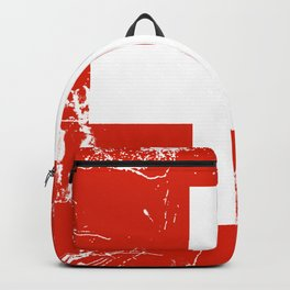 Switzerland flag with grunge effect Backpack