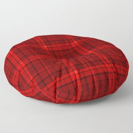 Red plaid Floor Pillow