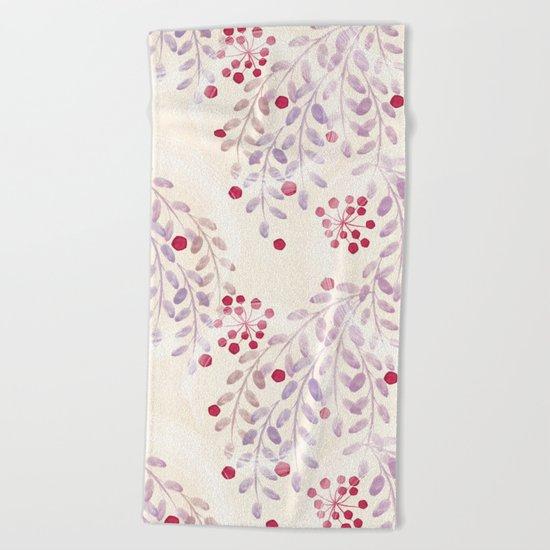 Delicate sprigs 2 Beach Towel