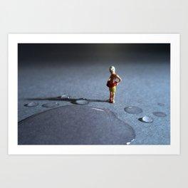 el peligro de poder ahogarse en una gota de agua. Art Print