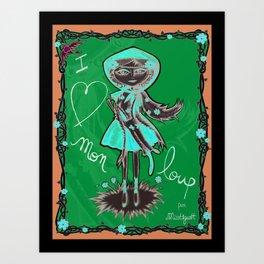 """""""I love mon loup"""" Art Print"""