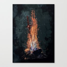 A bonefire Canvas Print
