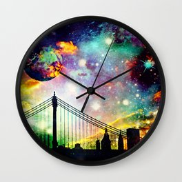 Galaxy Bridge Wall Clock