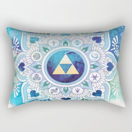 A Legendary Blue/Green Zelda Mandala Rectangular Pillow