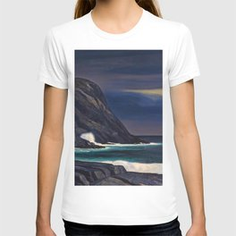 Classical Masterpiece Brewing Storm, Monhegan Island, Maine by Rockwell Kent T-shirt