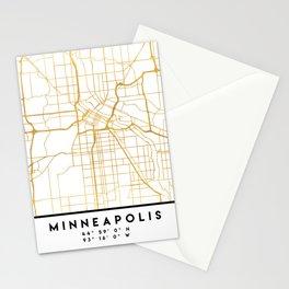 MINNEAPOLIS MINNESOTA CITY STREET MAP ART Stationery Cards