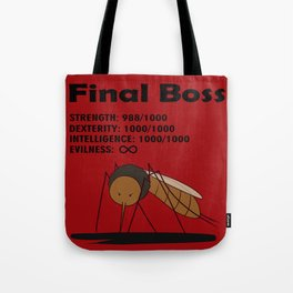 Final Boss - Red background Tote Bag