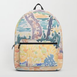 Pines on the Coastline by Henri-Edmond Cross, French Backpack