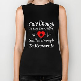 Nurse Funny Calm Tee Gift Heart Rn Nursing Women Nurses And Doctor Nurse   t-shirts Biker Tank