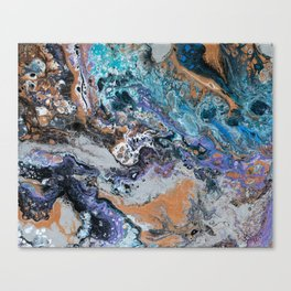 Molten Time (flow art on canvas) Canvas Print