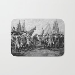 Surrender Of Cornwallis At Yorktown Bath Mat