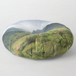 Bac Fils in Vietnam Landscape Floor Pillow