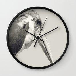 Marabou Stork Wall Clock