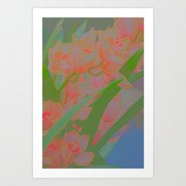 pinky flowers Art Print