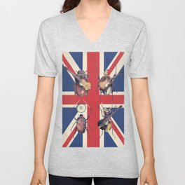 Meet the Beetles (Union Jack Option) Unisex V-Neck