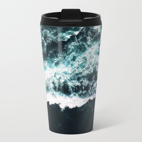 Oceanholic #society6 #decor #buyart Metal Travel Mug