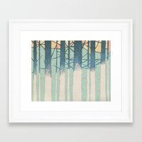 fibonacci Framed Art Prints featuring Fibonacci Trees by Pat Butler
