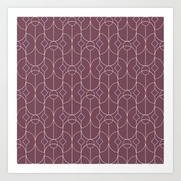 Contemporary Bowed Symmetry in Mulberry Art Print