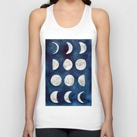 moon phases Tank Tops featuring Moon phases by Bridget Davidson