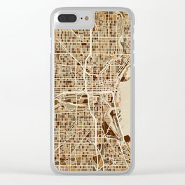 Milwaukee Wisconsin City Map Clear iPhone Case