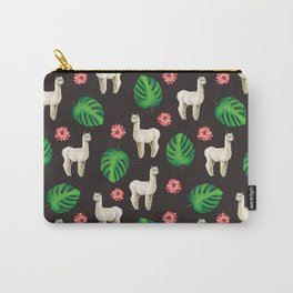 Monstera & llamas Carry-All Pouch