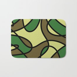 Camo Curves - Abstract, camouflage coloured pattern Bath Mat