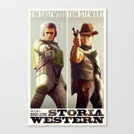 Storia Western Canvas Print