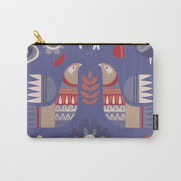 BIRDS AND FLOWERS Carry-All Pouch