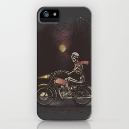 Death Rides in the Night iPhone Case