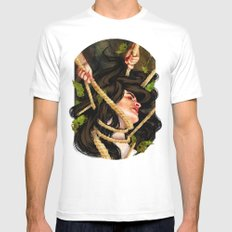 'Mother, mother, you have murdered me!' MEDIUM Mens Fitted Tee White