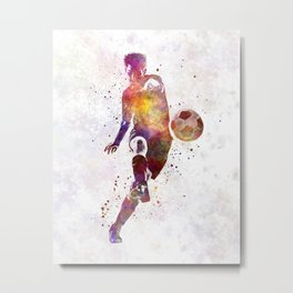 man soccer football player 10 Metal Print
