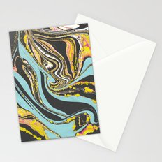 Wavy Marbling Stationery Cards