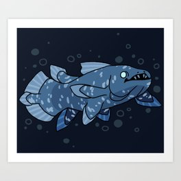 Behold the Coelacanth Art Print