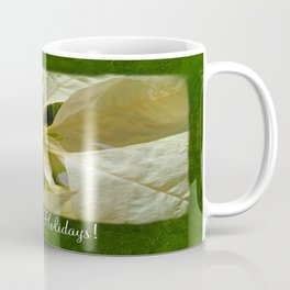 Pale Yellow Poinsettia 1 Happy Holidays P1F1 Coffee Mug