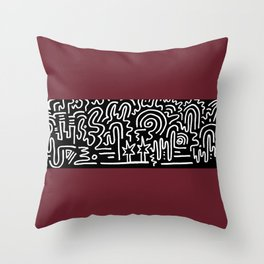 Clean Stripe (Brick) Throw Pillow