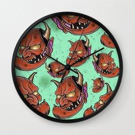 Grumpy Hannyas by Kevin Thrun Wall Clock