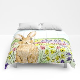 Bunny in the Meadow Comforters