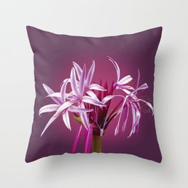 Giant Spider Lily Throw Pillow