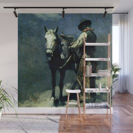 """""""Night Herder"""" by Frank Tenney Johnson Wall Mural"""