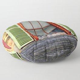 Window Shutters Floor Pillow