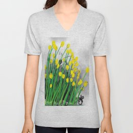 Yellow Flowers! Unisex V-Neck