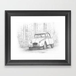 Citroen 2 CV - Deux Chevaux Framed Art Print