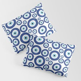 Greek Mati Mataki - Matiasma Evil Eye Pattern #1 Pillow Sham