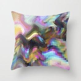 Crazy Quartz Throw Pillow