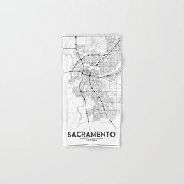 Minimal City Maps - Map Of Sacramento, California, United States Hand & Bath Towel