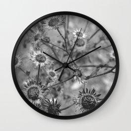 dried flowers in the field Wall Clock