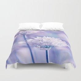 Allium blue macro 038 Duvet Cover